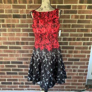 NWT Dressbarn satin floral sleeveless dress
